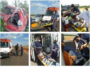 Imagens do acidente e socorro na MA 006