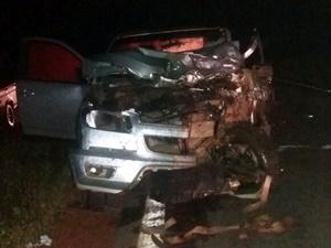 Camionete S10 envolvida no acidente conduzida pela vitima fatal