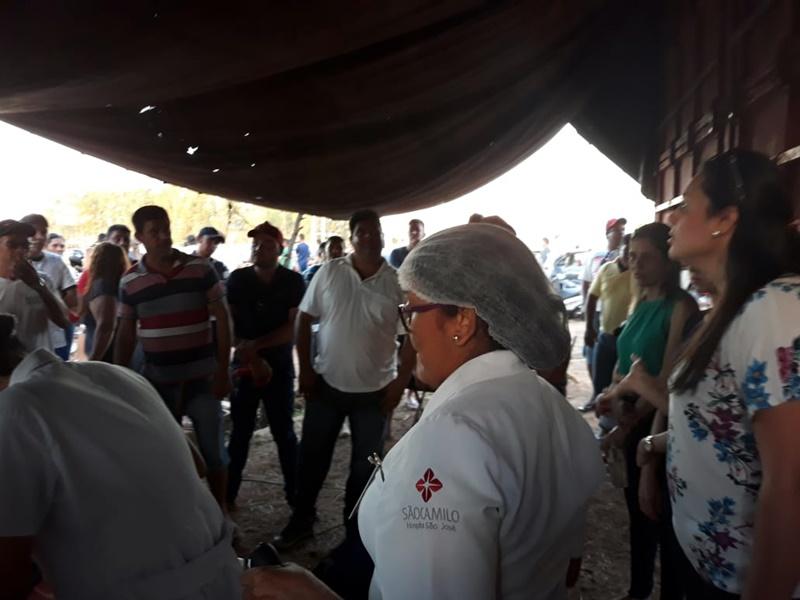 Ação solidária de apoio aos caminhoneiros em Balsas