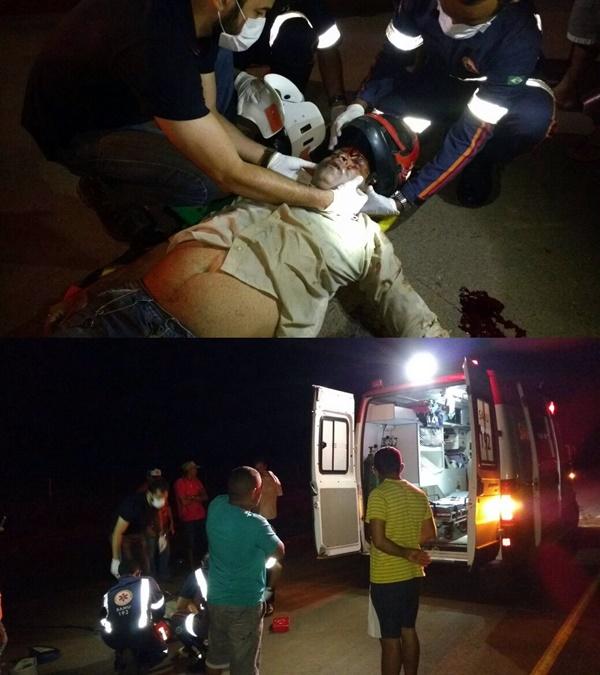 vitima de acidente em atendimento pelo SAMU em Balsas