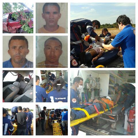 imagens do acidente proximo a Tasso Fragoso